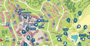 Mapa del resort